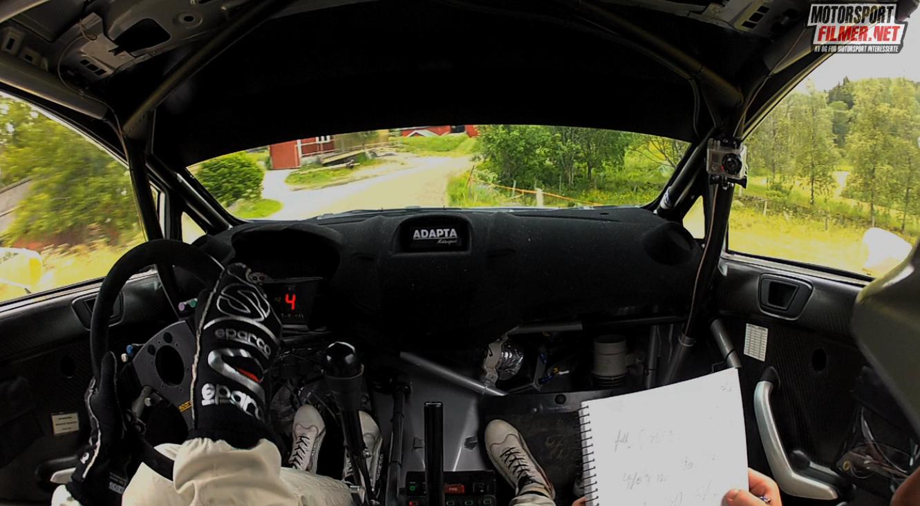 Inboard: Frank Tore Larsen – Ford Fiesta WRC Sørlandssprinten SS4 2013